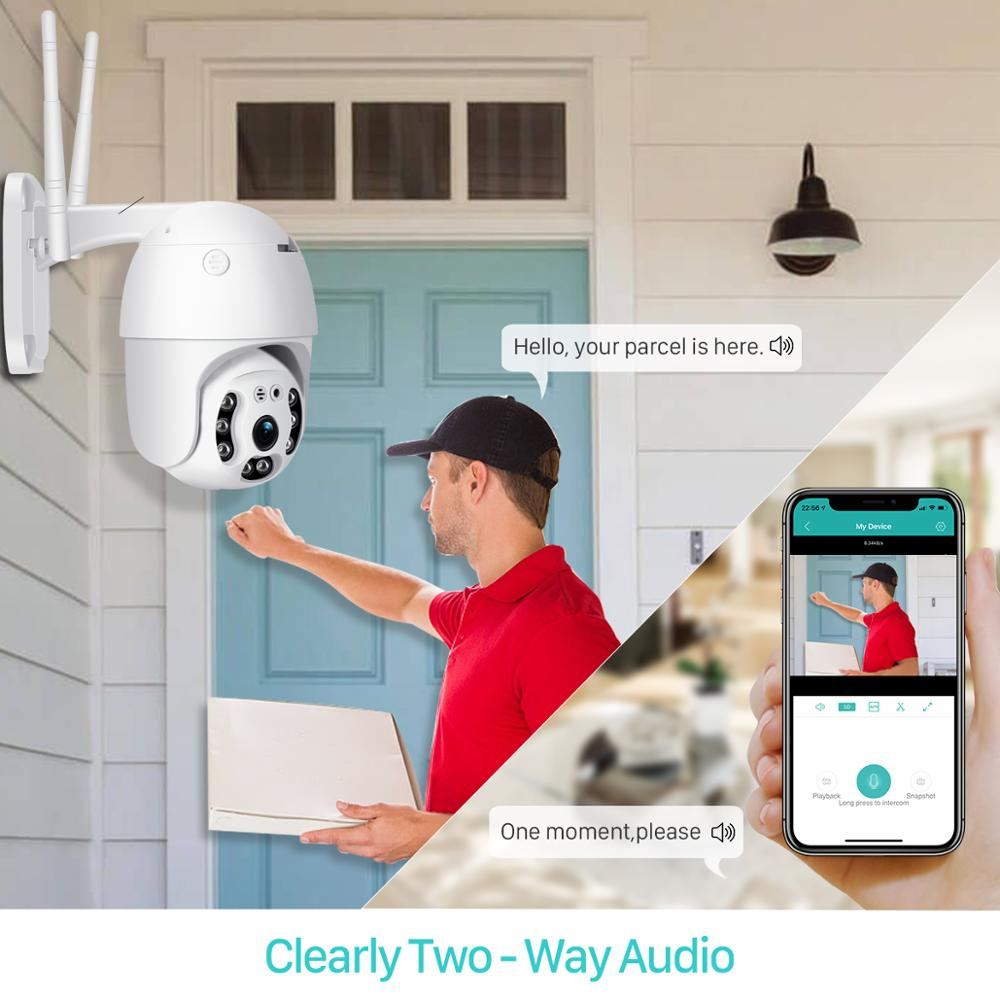 BESDER 1080P Outdoor Speed Dome Wifi Camera 2MP H 265 Audio PTZ Wireless Camera Cloud SD BESDER 1080P Outdoor Speed Dome Wifi Camera 2MP H.265 Audio PTZ Wireless Camera Cloud-SD Slot ONVIF Home Surveillance IP Camera