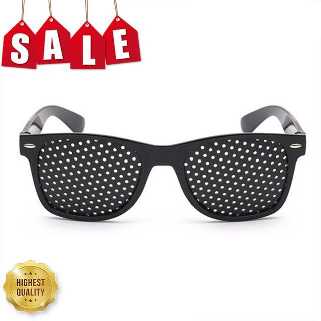 Black Eyesight Improvement Care Exercise Eyewear Glasses Training Cycling Eyewear Pin Small Hole Sunglass Camping Eyeglasses 1