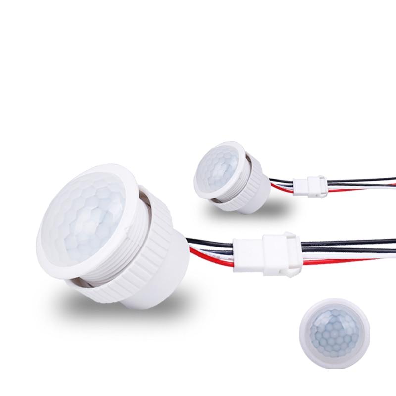 D/étecteur de Mouvement ext/érieur Interrupteur Mini Multifonctions Accueil Temps PIR Corps Humain Infrarouge Retard r/églable D/étecteur de Commutation
