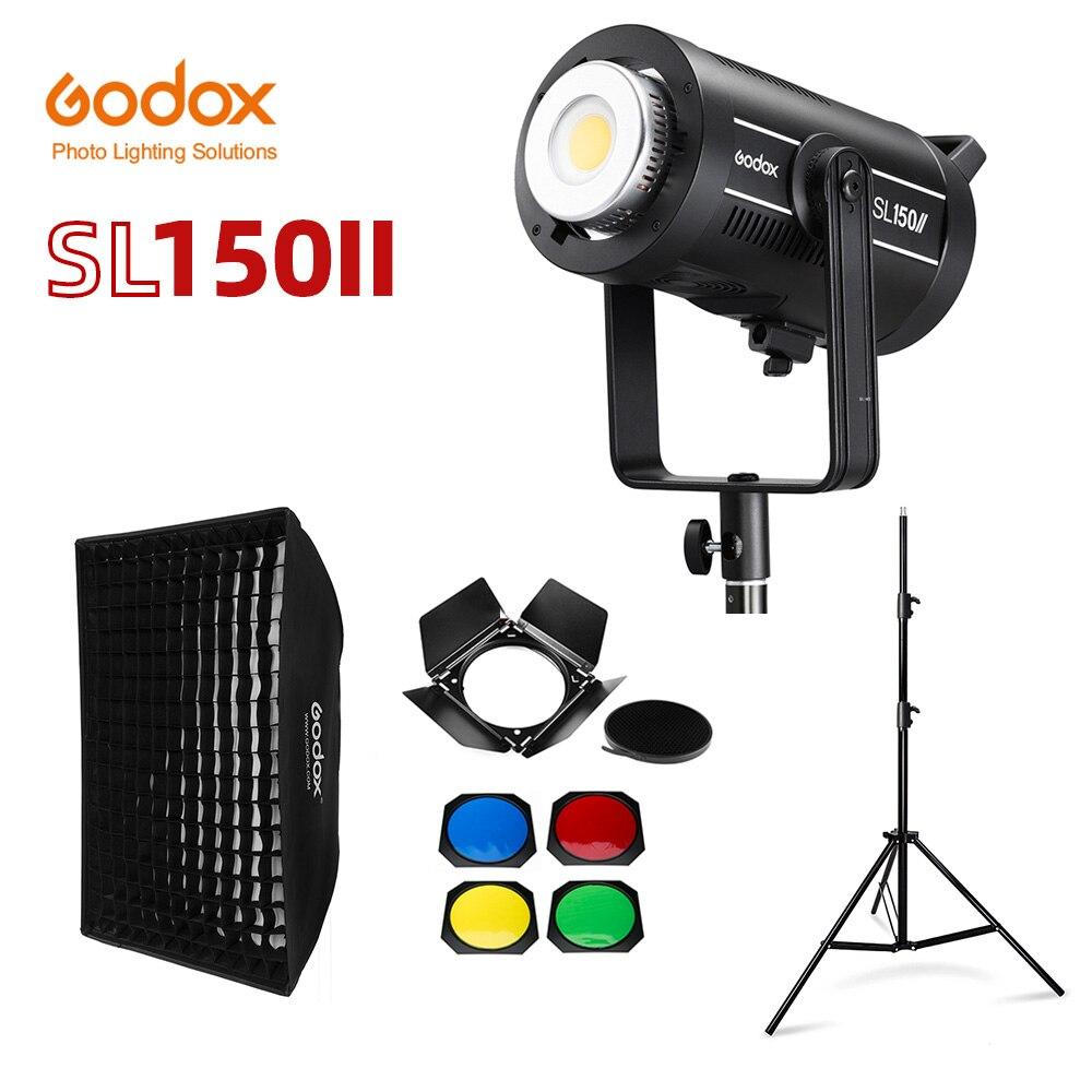 Светодиодная лампа для видеосъемки Godox SL150II SL-150W II 150W Bowens, дневной свет, сбалансированный 5600K 2,4G, беспроводная система X для интервью