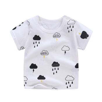 boy's cotton t-shirt clouds