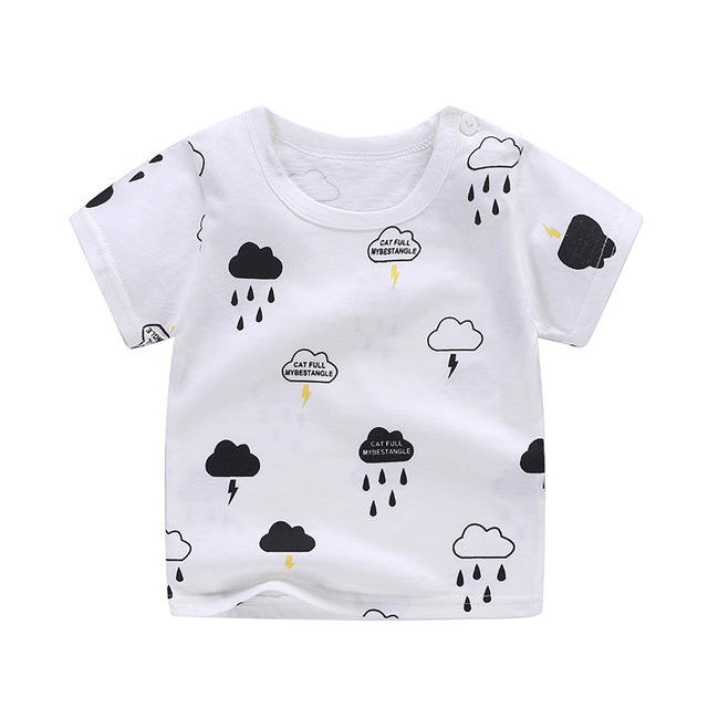 boy's cotton t-shirt clouds