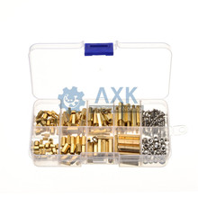 цена на DIY  M2*L+3mm M2.5/M3*L+6mm Hex Nut Spacing Screw Brass Threaded Pillar PCB Motherboard Standoff Spacer Kit
