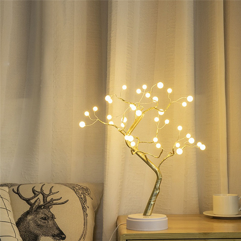 Gypsophila Lights LEDS Night Light Pearl Bonsai Table PC Touch Tree Light Home Party Wedding Indoor Christmas Decoration