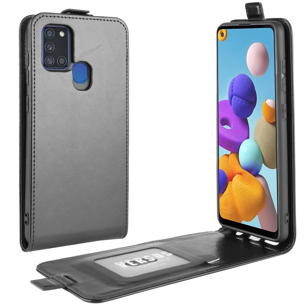 SM-A217F Case For Samsung Galaxy A21S (6.5In) Cover Down Open Style Flip Leather Cases Card Slot Black A217 A 21S 217 Samsung217