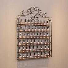 Белая 6 слойная железная полка для лака для ногтей, черная полка для маникюра, выставочная полка для лака для ногтей, настенная стойка, органайзер для макияжа
