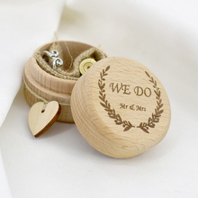 1 pc Wedding Couple Rings Box Jewellery Empty Boxes Wood Ring Valentines Day Gift Package Decoration Supplies