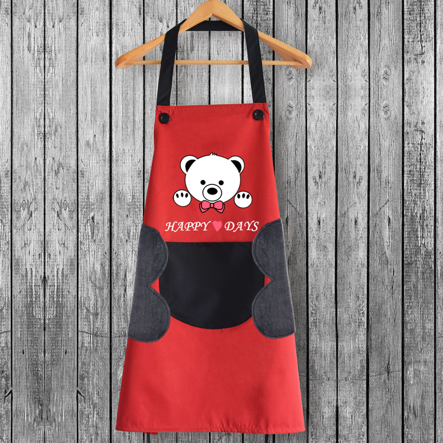 Kitchen Cooking Wipable Hand Apron Towel Fashion Waterproof Oil Resistant Cute Cartoon Men And Women Work Clothes Apron|Oversleeves| |  - title=