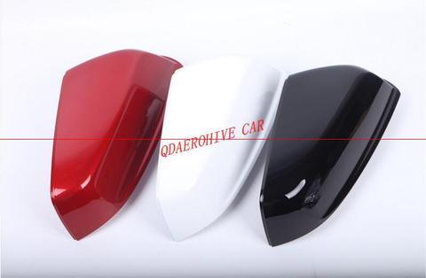 qdaerohive espelho lateral tampas chrome porta espelho capa de alta qualidade abs estilo do carro