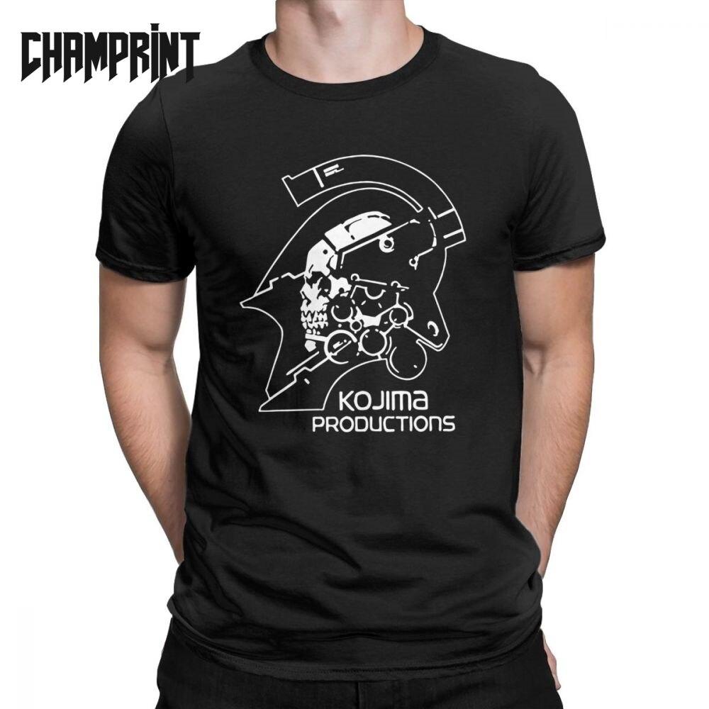 Men's Metal Gear Kojima Productions T Shirts MGS Hideo Kojima T-Shirt Death Stranding Cotton Tops Short Sleeve Tees Printed