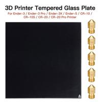 3D Printer Tempered Glass Plate Glass Bed Platform Heated Bed Build Surface Fit For Ender 3/Ender 3 Pro/Ender 3X/Ender 5 Printer