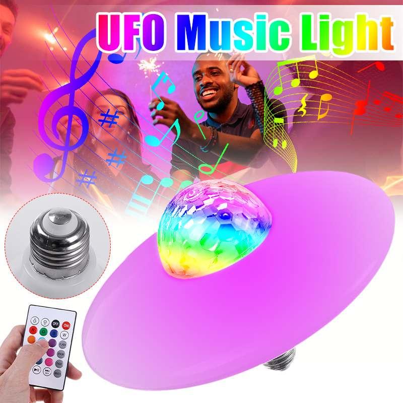 E27 UFO Smart Musik Licht Birne LED bluetooth Lautsprecher mit 24-key Fernbedienung Stufenlose Dimmen Musik Birne AC85-265V