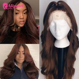 #4 цветные человеческие волосы для чернокожих женщин, перуанские волнистые человеческие волосы, предварительно отобранные волосы Remy AliPearl, к...