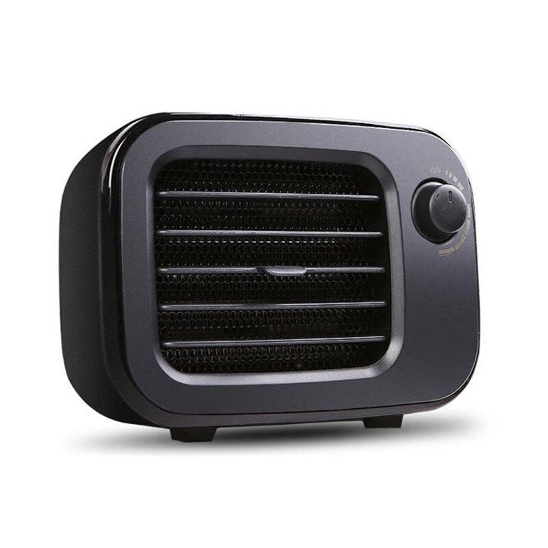 Portable Electric Heater Home Heater Desktop Electric Mini Heater Fan PTC Air Heater Home Office Winter US PLUG