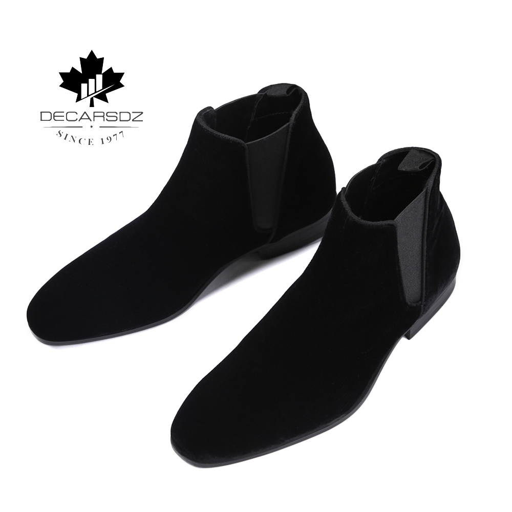 Chelsea Boots Men 2020 Comfy Spring Men's Shoes Man Fashion Casual Boots Male Black Design Basic Men's Boots Chaussures Homme