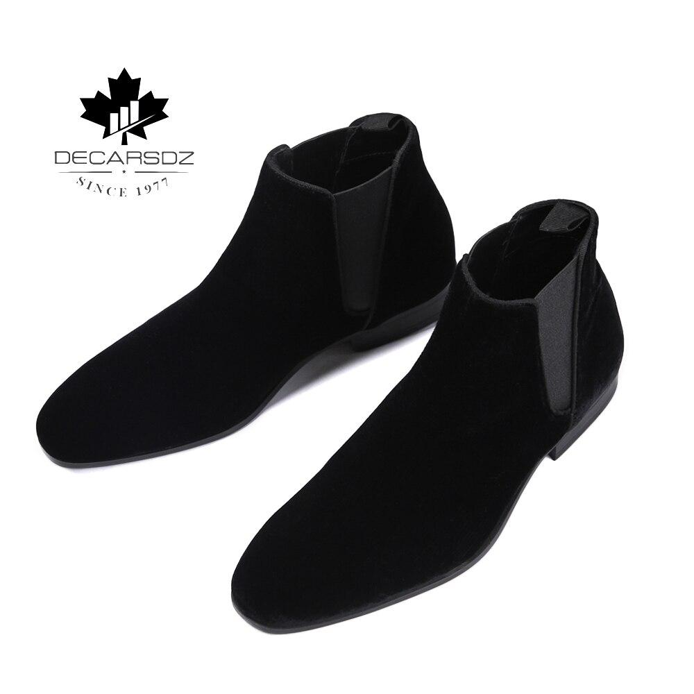 Men Chelsea Boots Men Ankle Botas Hombre Fashion Shoes Man Autumn Brand Suede Casual Men's Boots Male Black Comfy Basic Boots