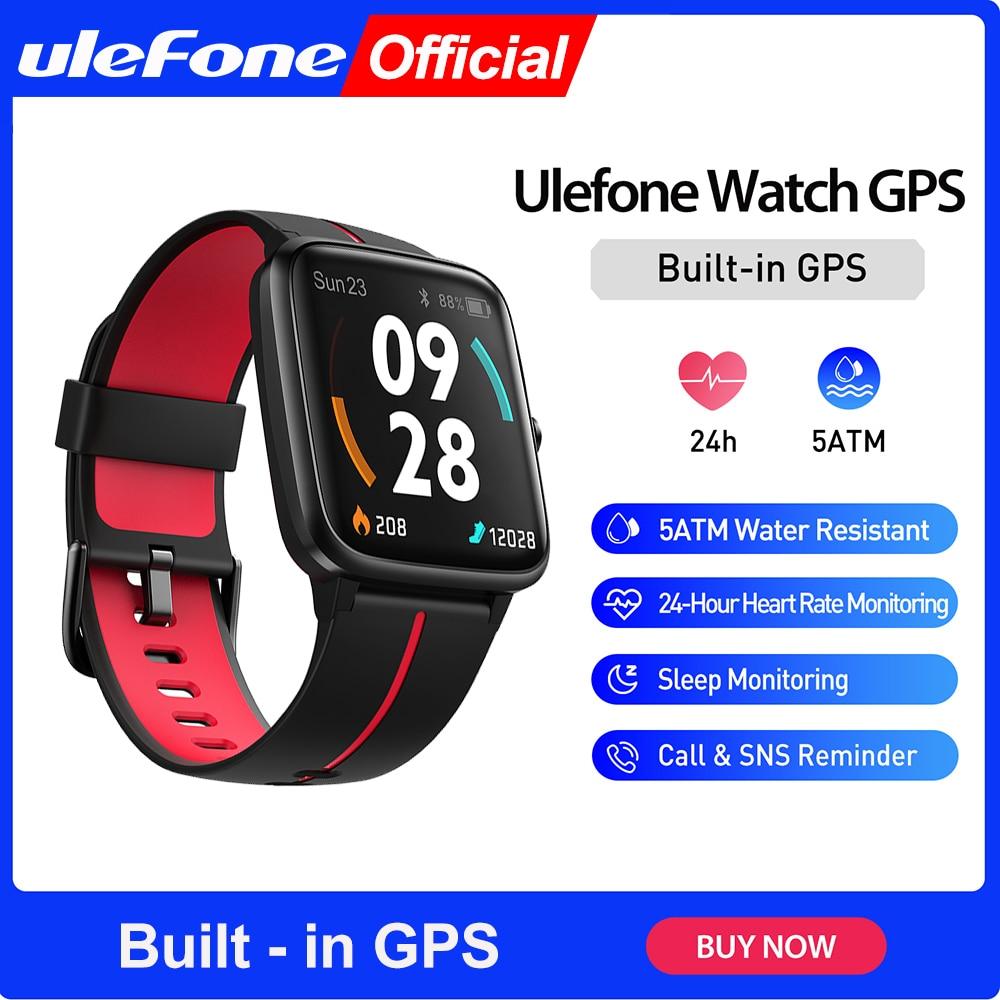 Смарт-часы Ulefone с GPS, водонепроницаемые 5 АТМ, пульсометром и мониторингом сна