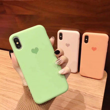 Solid Color Silicone Case for iPhone XS MAX XR X Candy Phone Cases 7 6 Soft TPU S 8 Plus