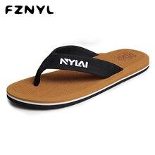 купить FZNYL Non-slip Rubber Men Women Slippers Beach Flip Flops Sweat Absorption Summer Indoor Home House Sandals Shoes Plus Size 49 дешево