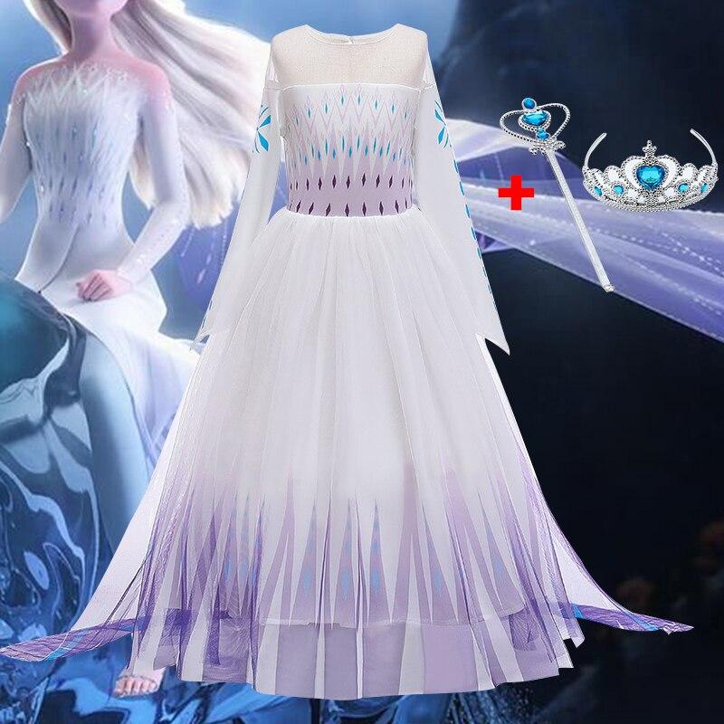 Bebê menina vestido novo vestido de princesa neve rainha vestido da menina vestido de halloween cosplay vestido criança desempenho vestido roupas da menina