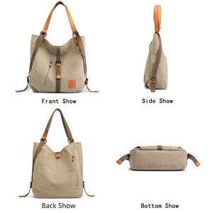Image 4 - New Women Shoulder Bag  Ladies Messenger Bag Brand Luxury Handbags Women Bags Designer large capacity Leisure Canvas Totes Sac