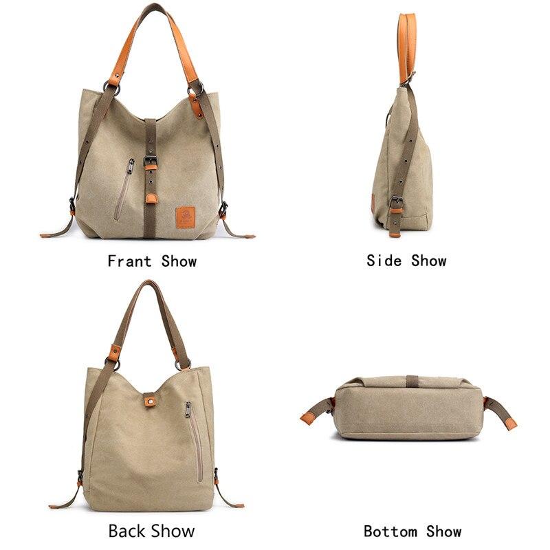 Image 4 - Nova bolsa de ombro das senhoras saco do mensageiro da marca bolsas de luxo bolsas femininas designer grande capacidade lazer lona totes sacBolsas de ombro   -