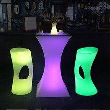 Перезаряжаемый светодиодный светящийся коктейльный стол IP54 Водонепроницаемый круглый светящийся светодиодный барный стол уличная мебель для бара kTV disco