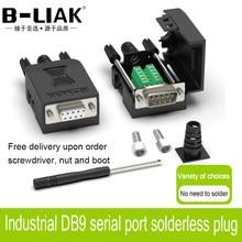 DB9 connecteur RS232 mâle femelle D-SUB 9 broches prise fil manchon RS485 bornes de rupture 21/24 AWG fil sans soudure connecteurs DB9