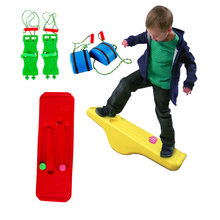 Children Balance Board Outdoor Toy Kids Sensory Training Rocking Seesaw Indoor Fitness Activity Exercise Interactive Game Toys
