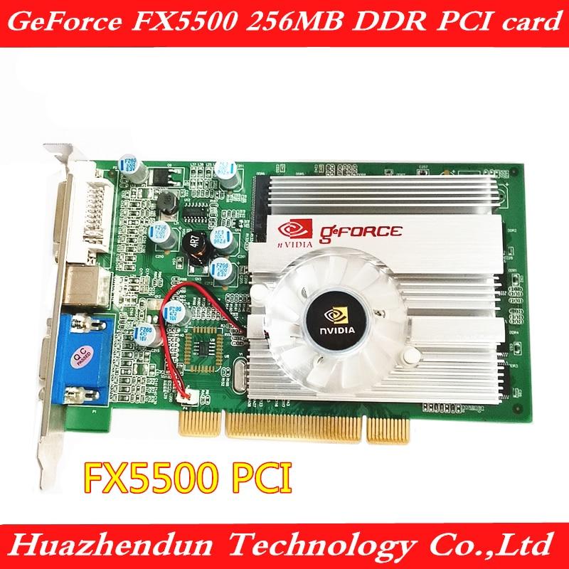PCI Graphics Card FX5500 256MB VGA+DVI+S Terminal Supports Split Screen Tractor Monitoring, Etc.