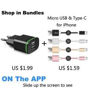 Image 2 - CinkeyPro EU 플러그 2 포트 LED 라이트 USB 충전기 5V 2A 벽 어댑터 휴대 전화 마이크로 데이터 충전 아이폰 iPad 삼성
