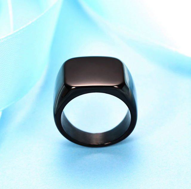Silver Antique Black Smooth Design Men or Women Ring Fashion Finger Ring  Jewelry WJ001R 1