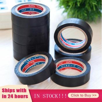 Hot 1pcs Black Tape Electrician Wire Insulation Flame Retardant Plastic Tape Waterproof Self-adhesive Tape Home Improvement 1