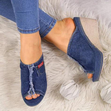 2020 New Summer Sandals Women Leisure Fish Mouth Platform Sandals Thick Bottom High Heel Wedges Shoes Slippers Sandalias Mujer aimeigao summer wedges platform women sandals square thick heel pu leather shoes soft bottom mixed colors shoes for women