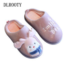 Slippers for Boy Girl Cute Winter Warm Flat Shoes Children Cartoon Non-slip Home Indoor Fashion Kids Slides Flip Flops Platform(China)