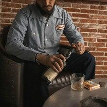 ¡Lea la descripción! Talla asiática Bronson camisa vintage de algodón para hombres camisa aloha