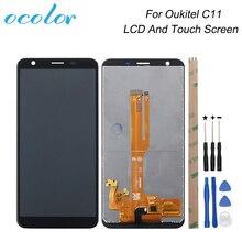 Oukitel C11 LCD 디스플레이 및 터치 스크린 수리 부품에 대 한 ocolor Oukitel C11 전화 디지털 액세서리 + 도구 + 접착제