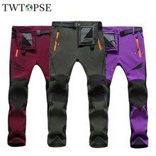 TWTOPSE, зимние водонепроницаемые велосипедные штаны для мужчин и женщин, термальные спортивные брюки для горного велосипеда, велосипедные штаны, ветрозащитные теплые флисовые штаны