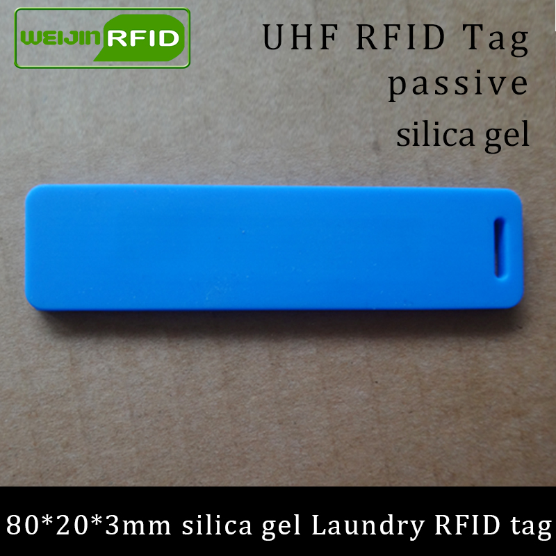 UHF RFID Tag Laundry Soft Silica Gel Washable Heat Resisting 915m 868m 860-960M Alien H3 EPC Gen2 6C Long Range Passive RFID Tag