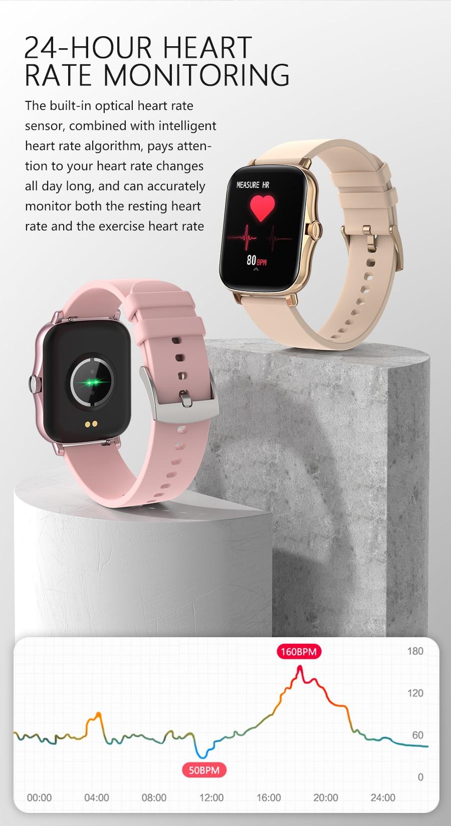 Hcf0c18d08e364a1cb1a83440de29b7865 Full Touch Y20 Sport Smart Watch Men Women IP68 custom dial Heart Rate Fitness Tracker Smartwatch wristwatch GTS 2 P8 plus
