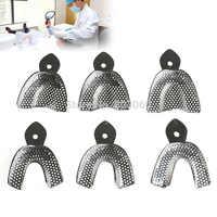Plateau d'impression d'acier inoxydable d'instruments dentaires de plateaux dentaires de 6 pièces/ensemble avec 3 supérieurs et 3 inférieurs et taille grand/moyen/petit