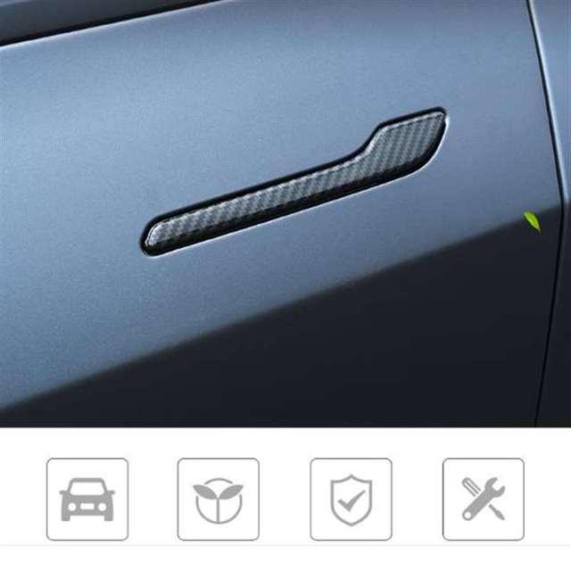 Фото набор из 4 предметов для tesla model 3 y автомобильные дверные