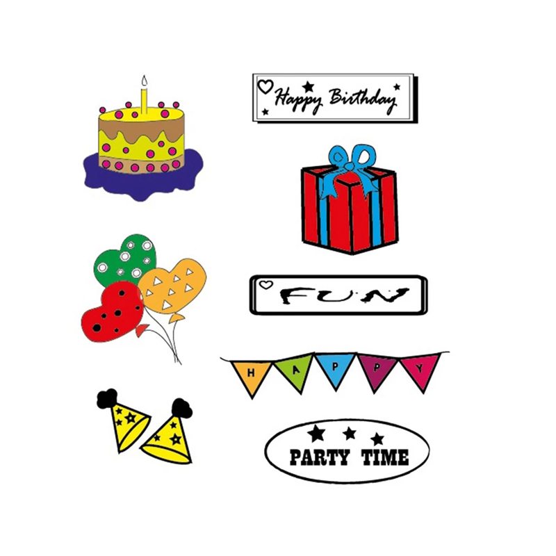 Party Gift Tag Cake Clear Stamps 2019 Rubber Transparent Silicone Seal for DIY Scrapbooking Photo Album Stamp Crafts Decoration