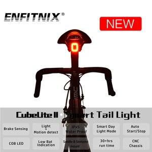 Nova cubelite ii luz traseira da bicicleta inteligente para a luz traseira da bicicleta sensor de freio usb led ciclismo à prova dwaterproof água luz da cauda