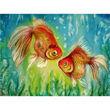 5d diamond painting goldfish cross stitch full square diamond mosaic animal rhinestone crafts embroidery home decoration 5d diamond embroidery bird diamond painting cross stitch animal full square rhinestone mosaic unfinished home decoration