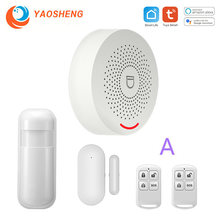 WIFI Intelligent Alarm Security System With Door Sensor Smart Life&Tuya App Control Compatible With Alexa & Google Assistant