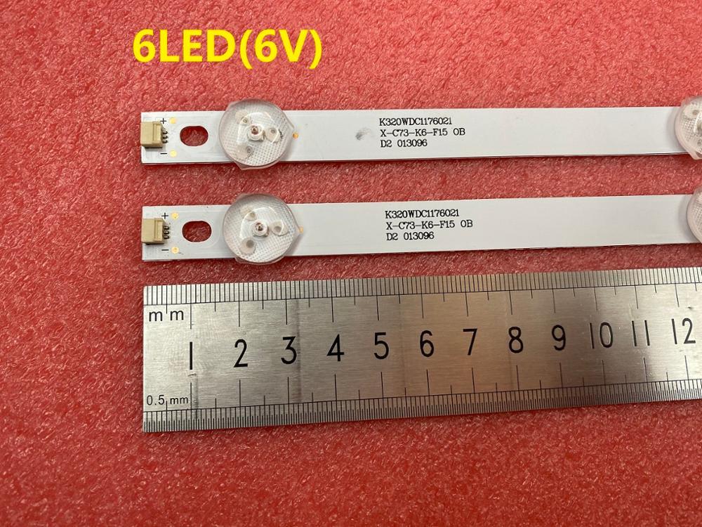 New 2 PCS 6LED 583mm LED backlight strip for TX-32ER250ZZ 4708-K32WDC-A2113N01 K320WDC2B  K320WDC1 A2 471R1P44 K320WDC1176021