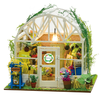 Handmade Decoratioin Home With LED Educational Children Doll House Assembly DIY Birthday Gifts Wooden Battery Powered Miniature