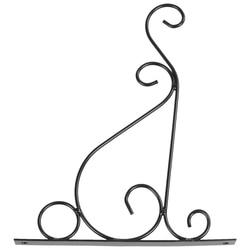 Żelazna ściana ogrodu lampa wisząca doniczka na kwiaty uchwyt hak półka stojak uchwyt  czarny w Kosze wiszące od Dom i ogród na