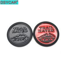 Dsycar 1Pcs Auto Aufkleber Trail Bewertet 4X4 3D Emblem Abzeichen Schwarz Rot Metall Aufkleber, anzug für alle auto, auto accessotries aufkleber